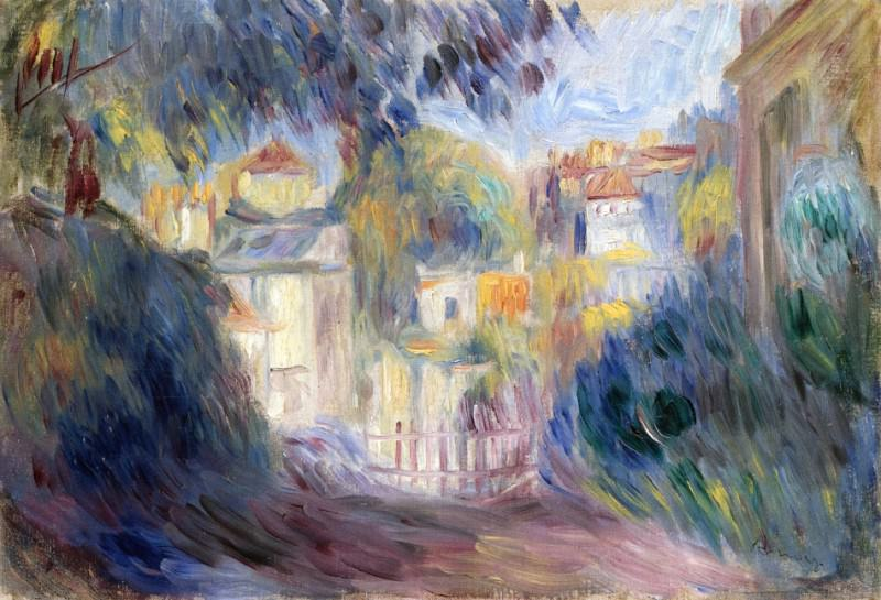 Landscape with Red Roofs. Pierre-Auguste Renoir