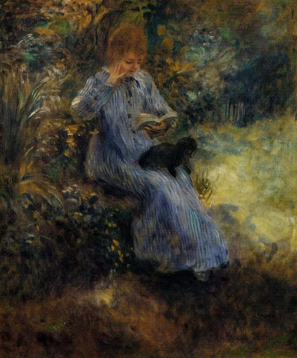 Woman with a Black Dog - 1874. Pierre-Auguste Renoir