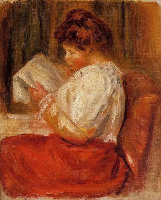 The Little Reader. Pierre-Auguste Renoir