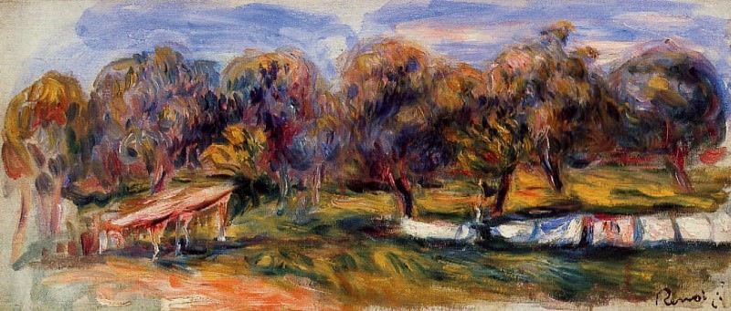 Landscape with Orchard - 1910. Pierre-Auguste Renoir