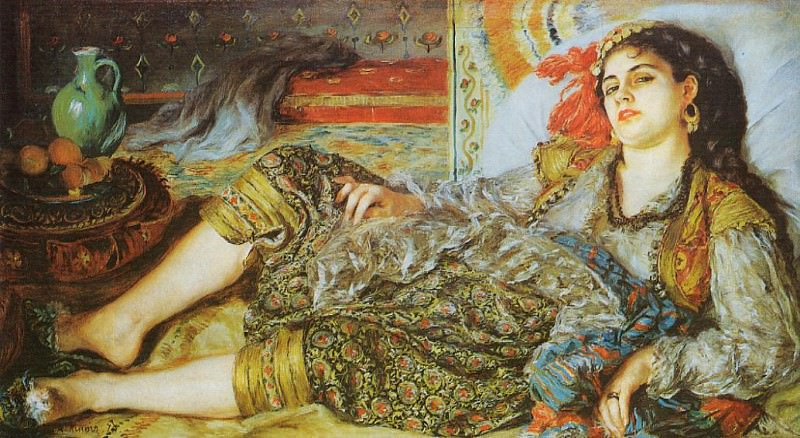Odalisque (also known as An Algerian Woman) - 1870. Пьер Огюст Ренуар