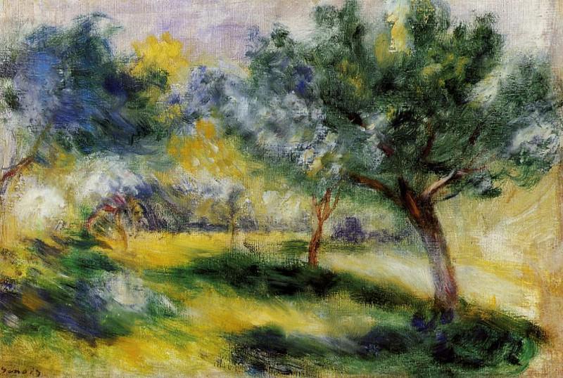 Landscape - дата не известна. Pierre-Auguste Renoir