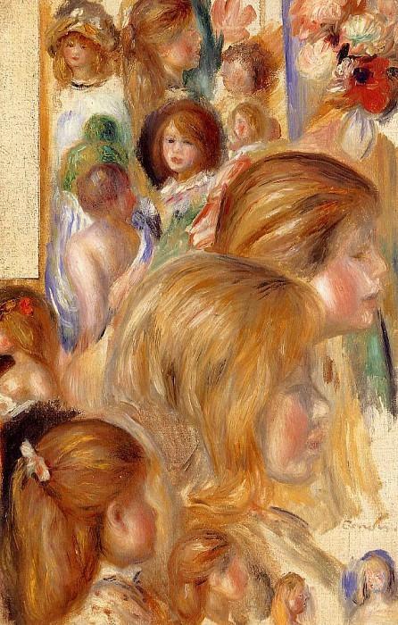 Childrens Heads. Pierre-Auguste Renoir