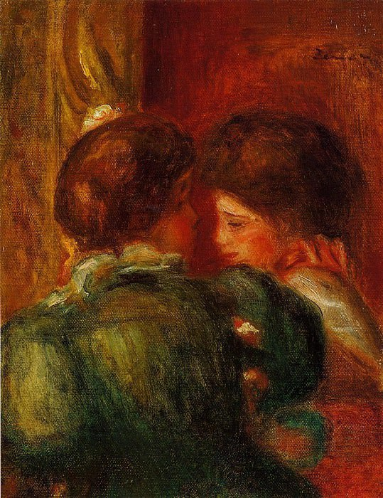 Two Womens Heads (also known as The Loge) - 1903. Пьер Огюст Ренуар