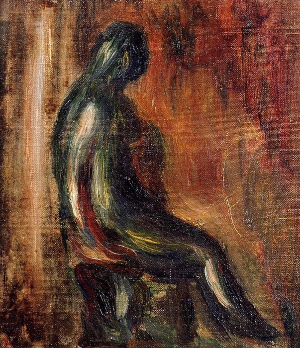 Study of a Statuette by Maillol - 1907. Pierre-Auguste Renoir