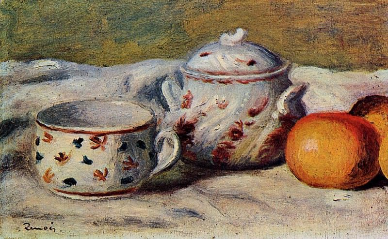 Still Life with Cup and Sugar Bowl - 1904. Pierre-Auguste Renoir