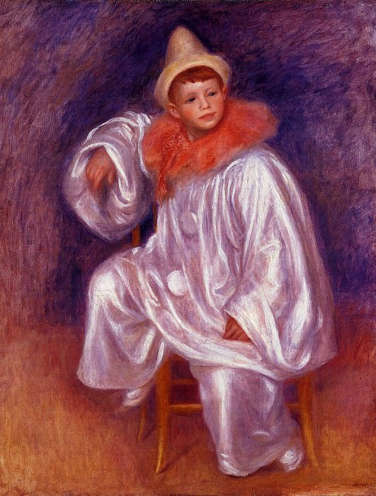 The White Pierrot (Jean Renoir) - 1901 - 1902. Pierre-Auguste Renoir