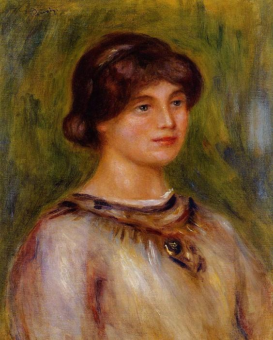 Portrait of Marie Lestringuez - 1912. Pierre-Auguste Renoir