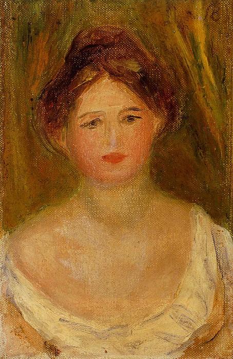 Portrait of a Woman with Hair Bun. Pierre-Auguste Renoir
