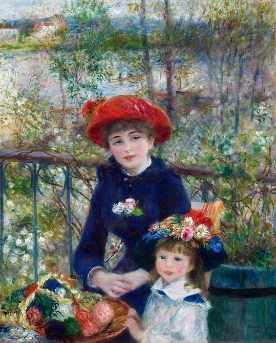 Two Sisters (also known as On the Terrace) - 1881. Pierre-Auguste Renoir