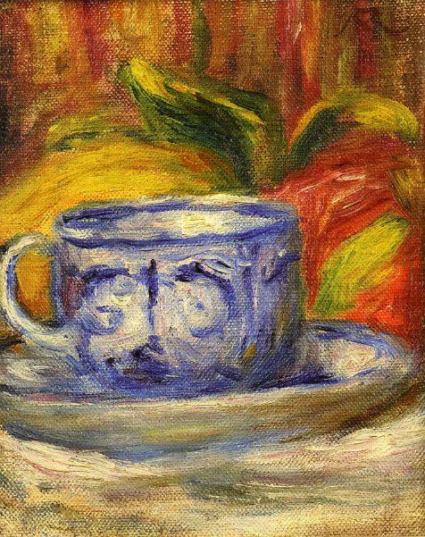 Cup and Fruit. Pierre-Auguste Renoir