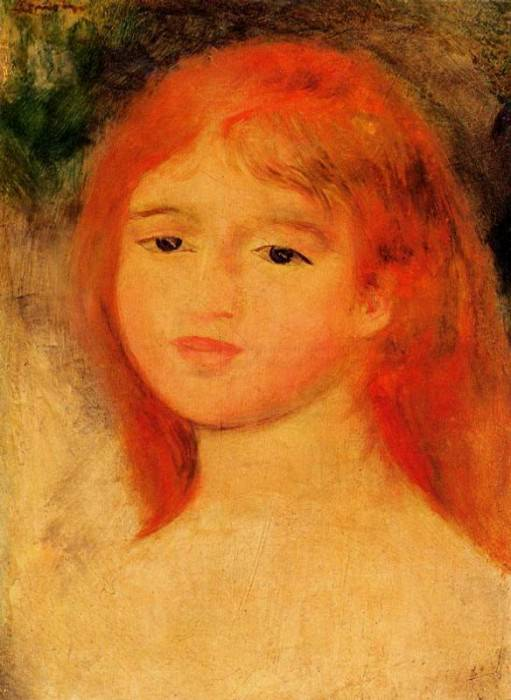 Girl with Auburn Hair - 1882. Pierre-Auguste Renoir