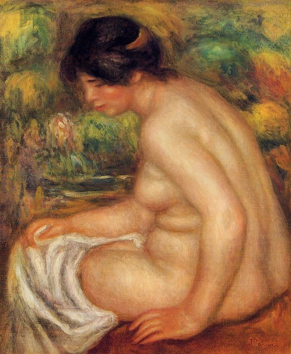 Seated Nude in Profile (also known as Gabrielle) - 1913. Пьер Огюст Ренуар