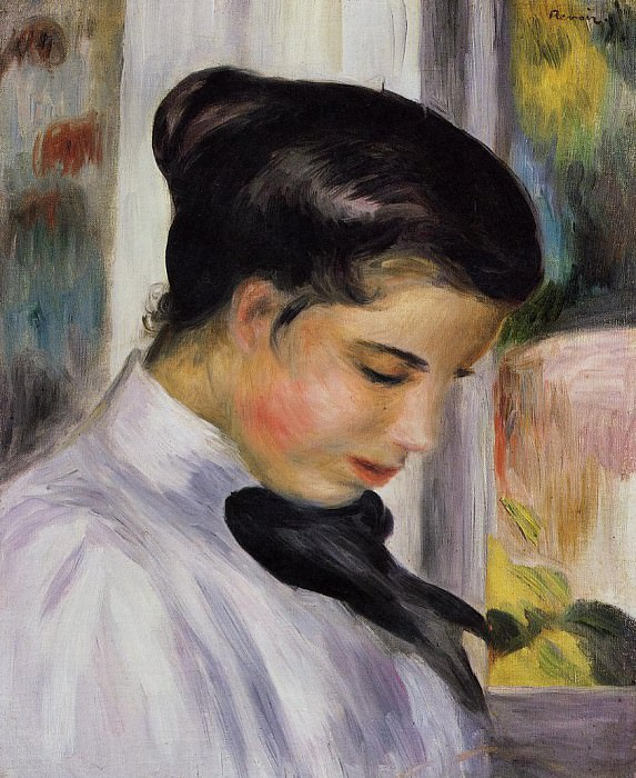 Young Woman in Profile - 1897. Pierre-Auguste Renoir
