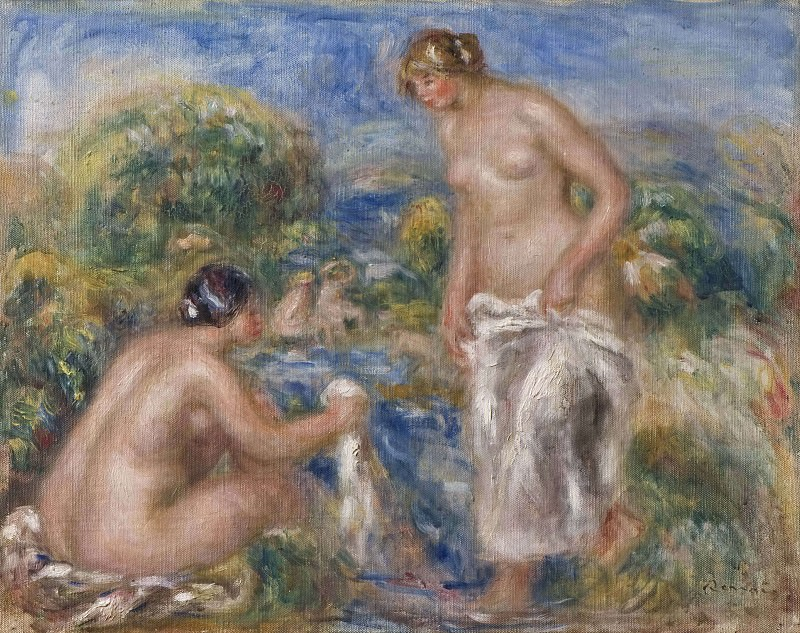 Bathing Women. Pierre-Auguste Renoir