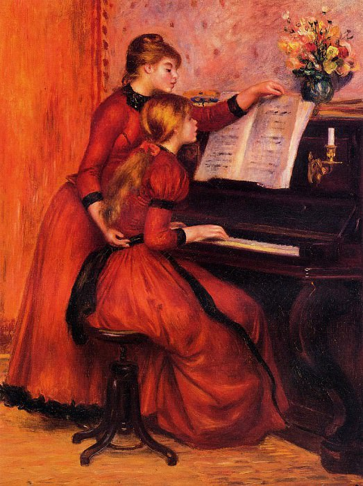 The Piano Lesson - 1889. Pierre-Auguste Renoir