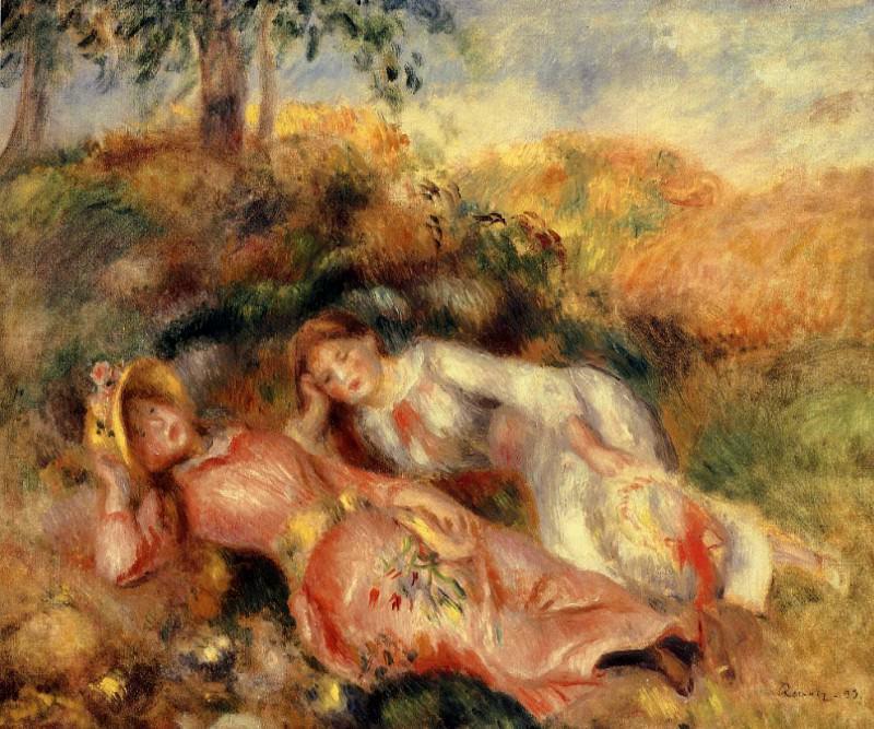 Reclining Women. Pierre-Auguste Renoir