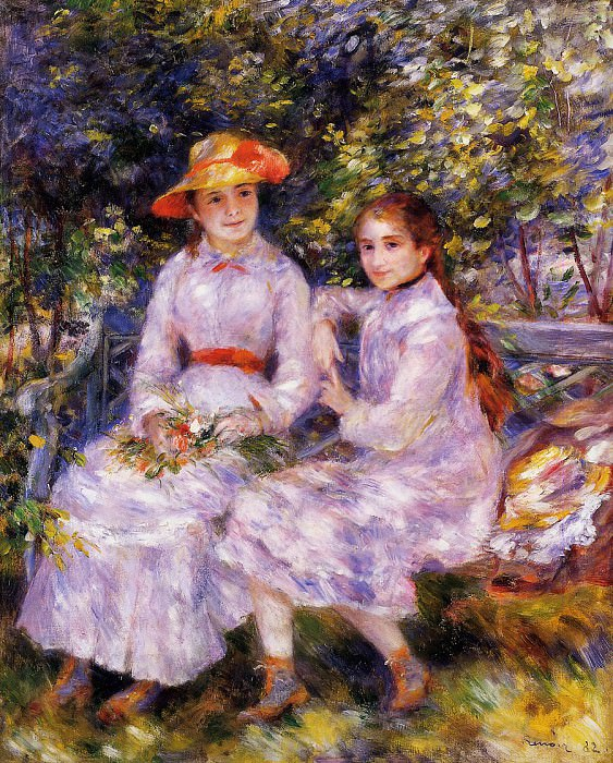 The Daughters of Paul Durand-Ruel (also known as Marie-Theresa and Jeanne) - 1882. Pierre-Auguste Renoir