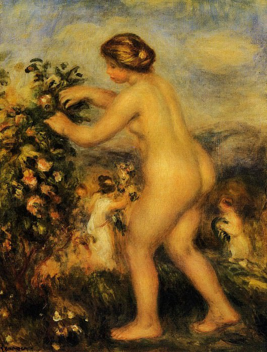 Ode to Flowers (after Anacreon) - 1903 -1905. Pierre-Auguste Renoir