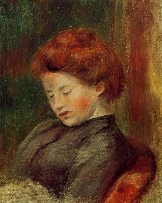 Womans Head. Pierre-Auguste Renoir