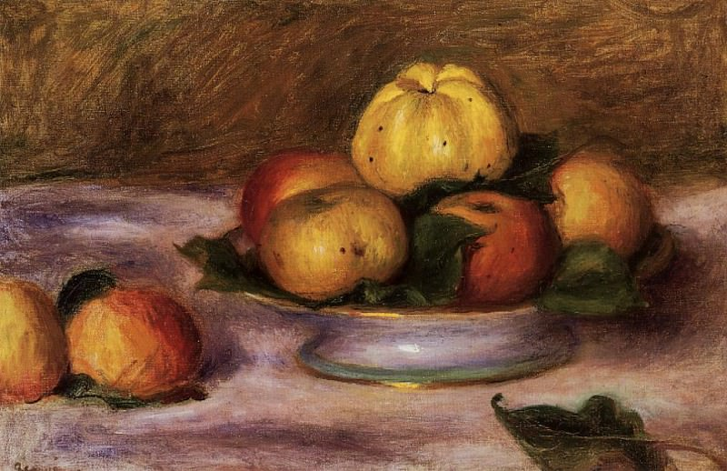 Apples on a Plate - 1890. Pierre-Auguste Renoir