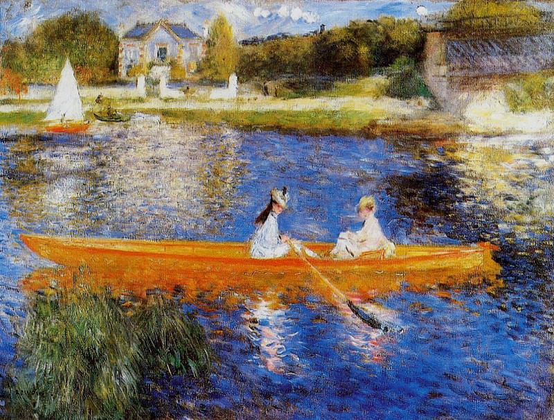 The Seine at Asnieres (also known as The Skiff) - 1879. Pierre-Auguste Renoir