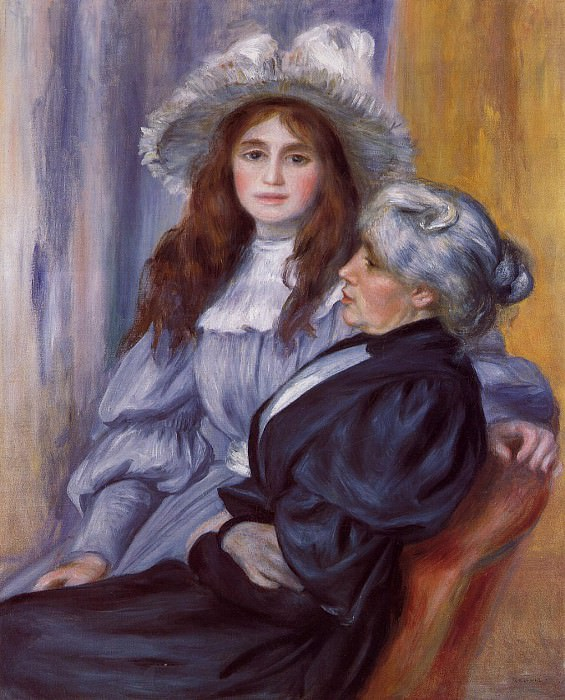 Berthe Morisot and Her Daughter Julie Manet - 1894. Pierre-Auguste Renoir