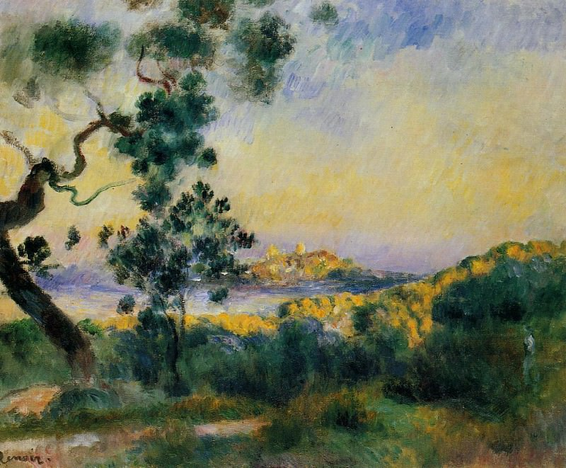 View of Antibes - 1892 - 1893. Pierre-Auguste Renoir