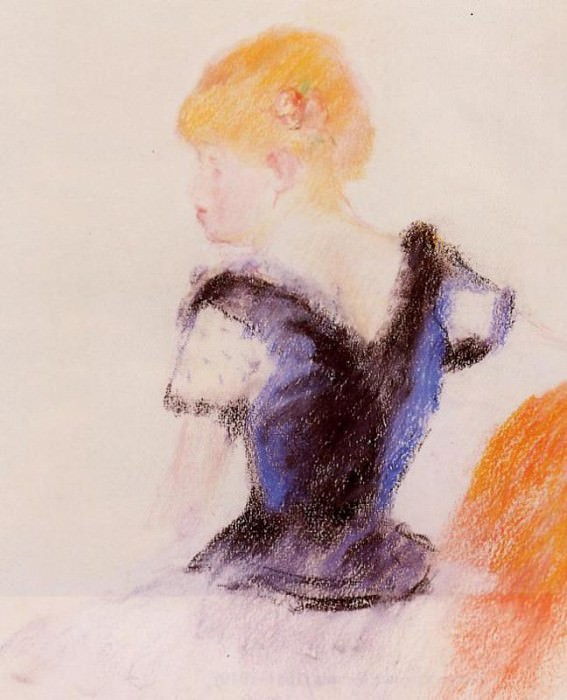 Young Blond Girl. Pierre-Auguste Renoir