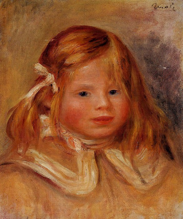 Coco in a Red Ribbon - 1905. Pierre-Auguste Renoir