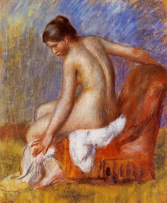 Nude in an Armchair - 1885-1889. Pierre-Auguste Renoir