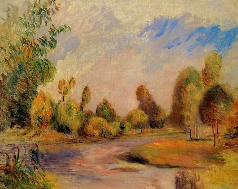 The Banks of the River - 1896. Pierre-Auguste Renoir