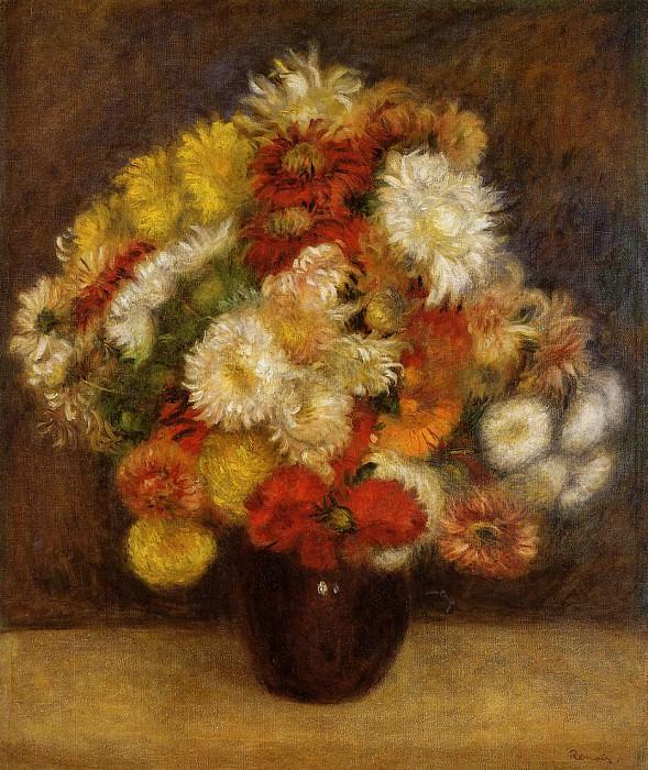 Bouquet of Chrysanthemums - 1881. Pierre-Auguste Renoir