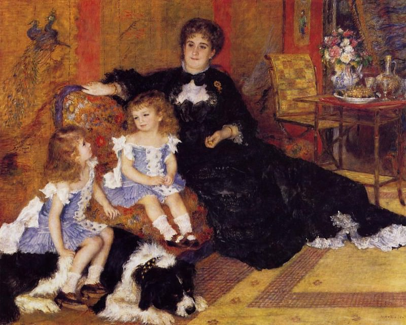Madame Georges Charpentier and Her Children - 1878. Pierre-Auguste Renoir