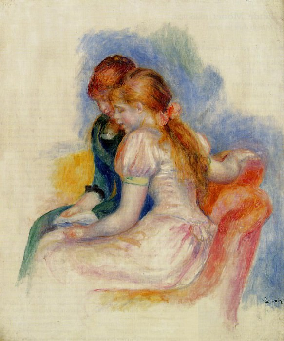 The Reading - 1890. Pierre-Auguste Renoir