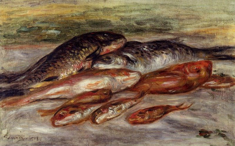 Still Life with Fish - 1913. Пьер Огюст Ренуар
