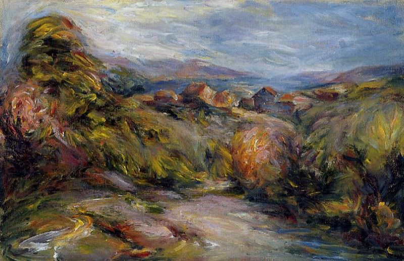 The Hills of Cagnes. Pierre-Auguste Renoir