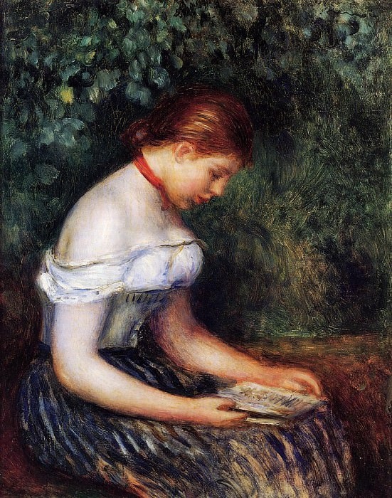 The Reader (La Liseuse) (also known as Seated Young Woman) - 1887. Pierre-Auguste Renoir