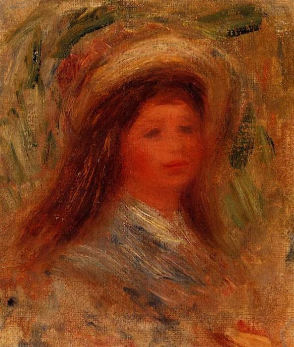 Womans Head. Pierre-Auguste Renoir