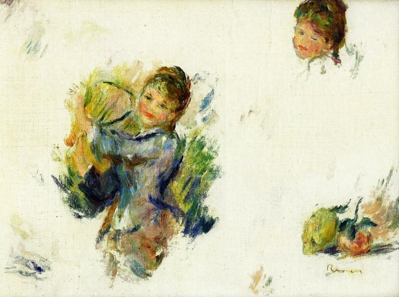 Study for - Girls playing with a Shuttlecock - 1887. Pierre-Auguste Renoir