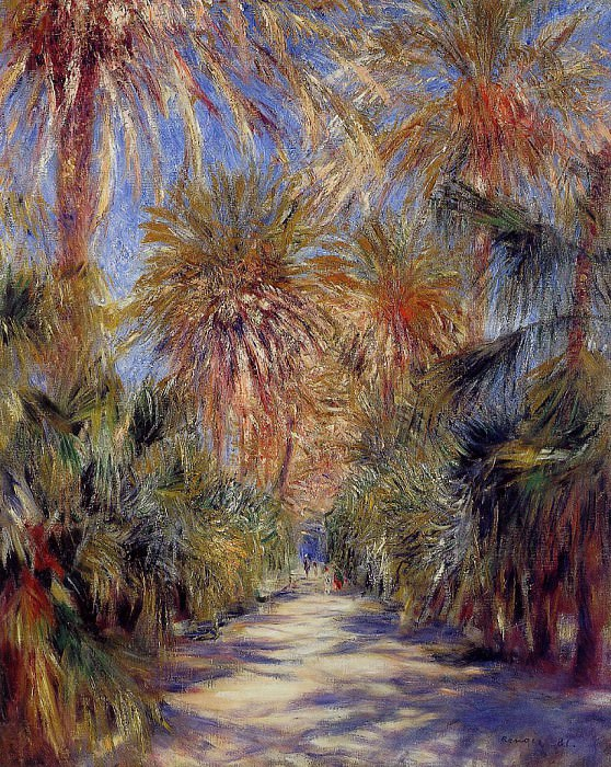 Algiers, the Garden of Essai - 1885. Pierre-Auguste Renoir