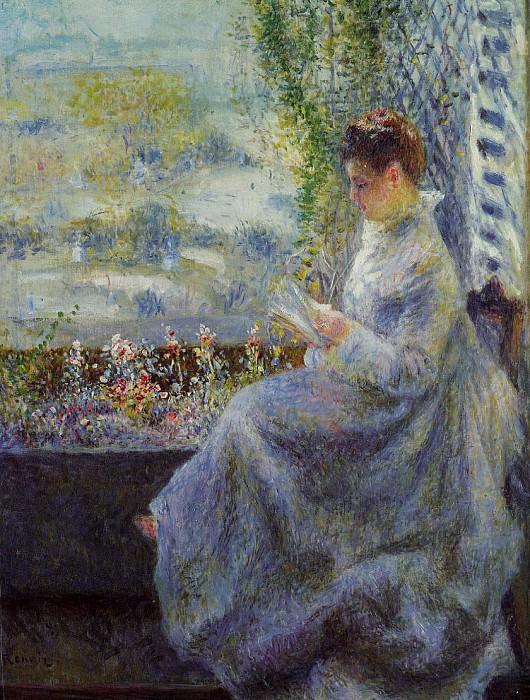 Madame Chocquet Reading - 1876. Pierre-Auguste Renoir