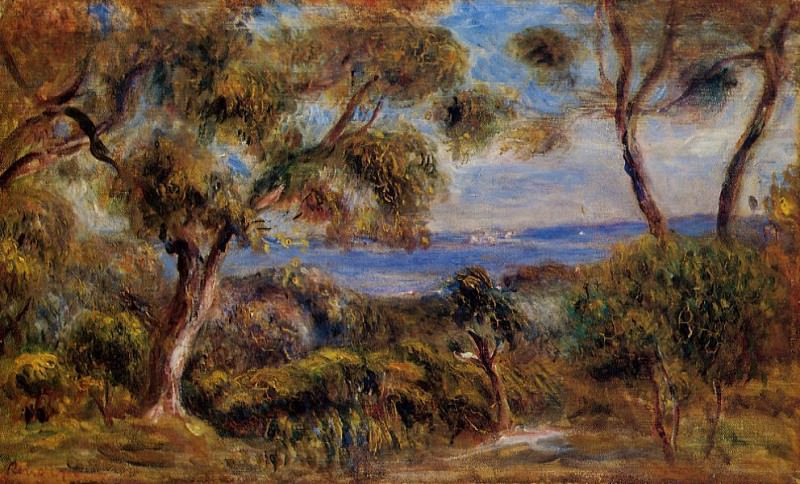 The Sea at Cagnes - 1910. Pierre-Auguste Renoir