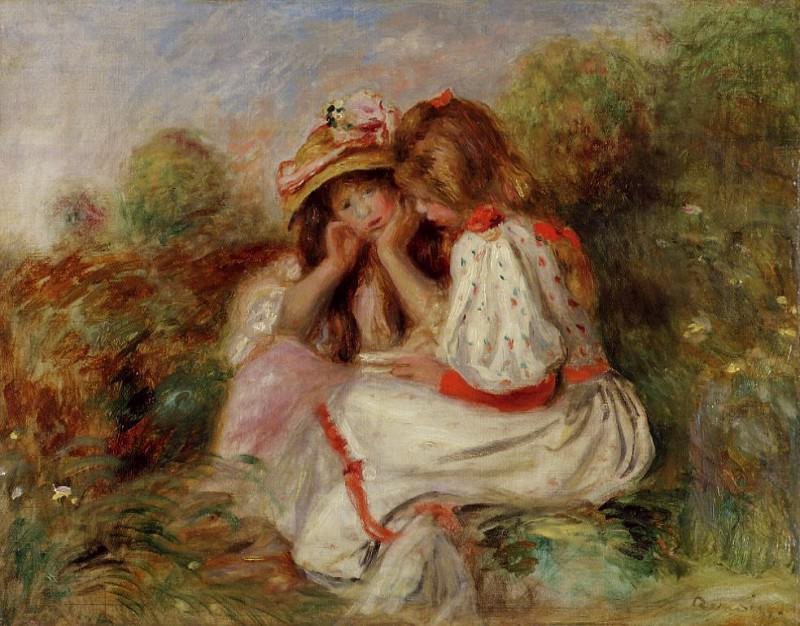 Two Little Girls - 1890. Пьер Огюст Ренуар