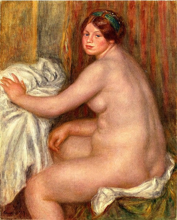 Seated Bather - 1913. Пьер Огюст Ренуар