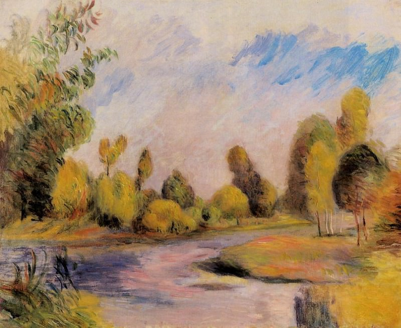 Banks of a River. Pierre-Auguste Renoir