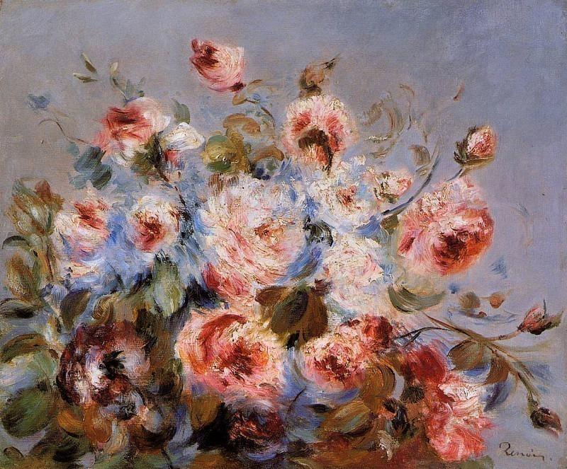 Roses from Wargemont - 1885. Pierre-Auguste Renoir