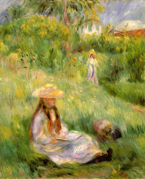 Young Girl in the Garden at Mezy - 1891. Пьер Огюст Ренуар