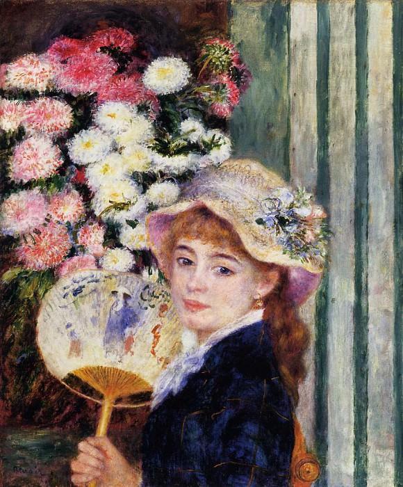 Girl with Fan - 1881. Pierre-Auguste Renoir