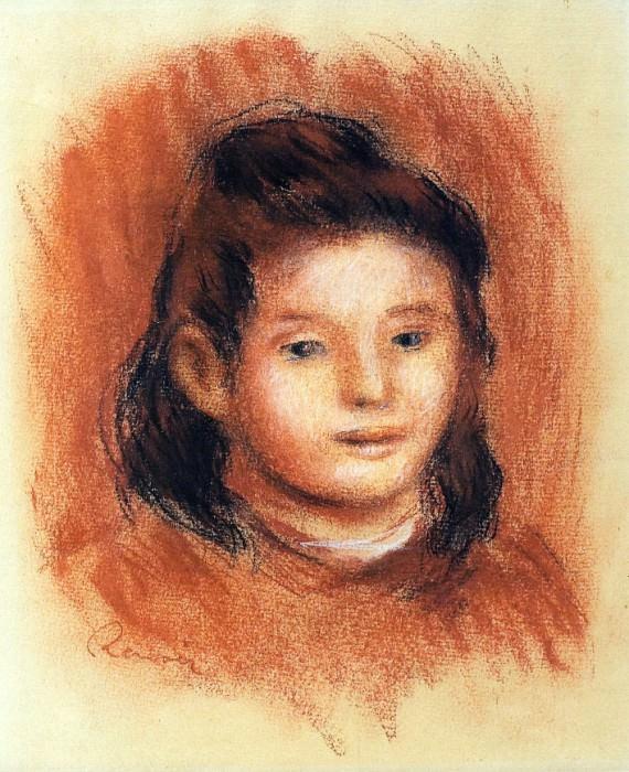 Girls Head. Pierre-Auguste Renoir